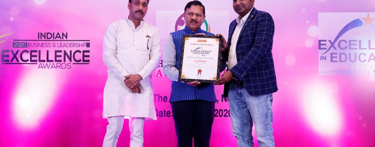 The MD Of JD Study Group Mr Pradeep Kumar Yadav Received Indian Excellence in Education Award 2020